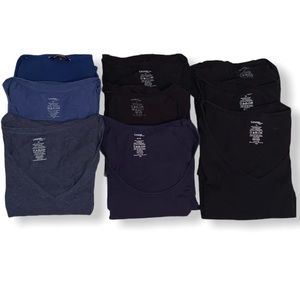 9 basic cotton t-shirts size 1X & XL